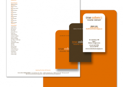 True Colors Theatre Company - Stationery