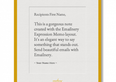 Emailnery™ Expression Memo