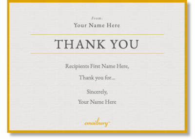 Emailnery™ Expression Thank You Card