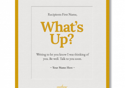 Emailnery™ Expression What's Up Card